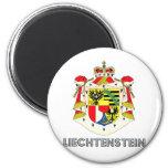 Escudo de armas de Liechtenstein Imán Redondo 5 Cm