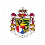 Escudo de armas de Liechtenstein Tarjetas Postales