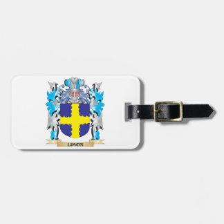 Escudo de armas de Limon - escudo de la familia Etiquetas Maletas