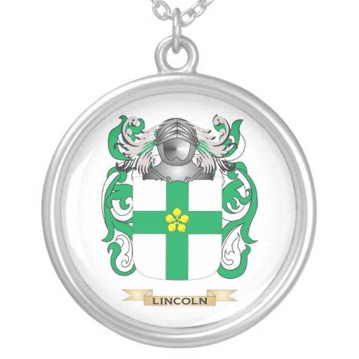 Escudo de armas de Lincoln (escudo de la familia) Colgante Personalizado