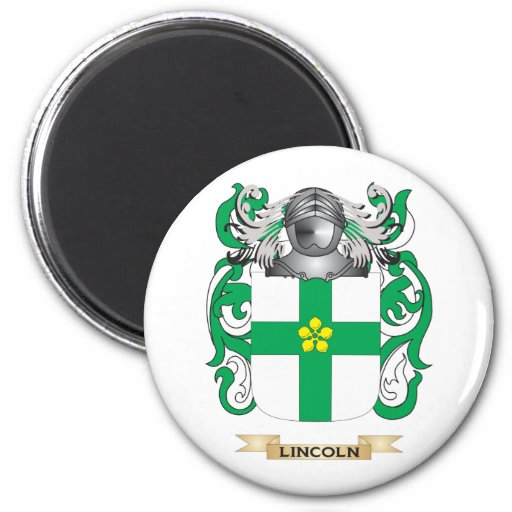 Escudo de armas de Lincoln (escudo de la familia) Imán