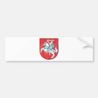 Escudo de armas de Lituania Pegatina De Parachoque