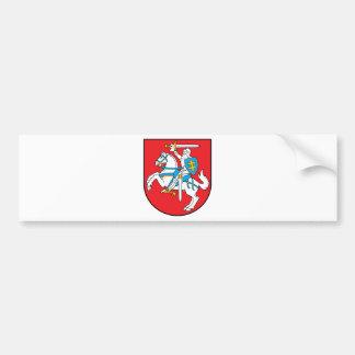 Escudo de armas de Lituania Etiqueta De Parachoque