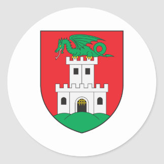 Escudo de armas de Ljubljana Pegatina Redonda