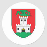 Escudo de armas de Ljubljana Pegatinas Redondas