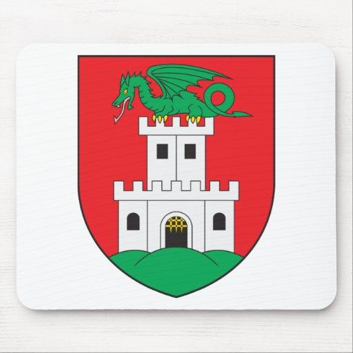 Escudo de armas de Ljubljana Alfombrillas De Ratones