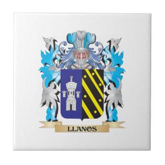 Escudo de armas de Llanos - escudo de la familia Teja Cerámica