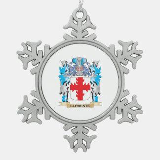 Escudo de armas de Llorente - escudo de la familia Adorno De Peltre En Forma De Copo De Nieve