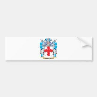 Escudo de armas de Llorente - escudo de la familia Pegatina Para Auto