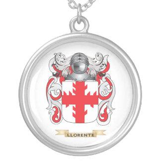 Escudo de armas de Llorente (escudo de la familia) Colgante Redondo