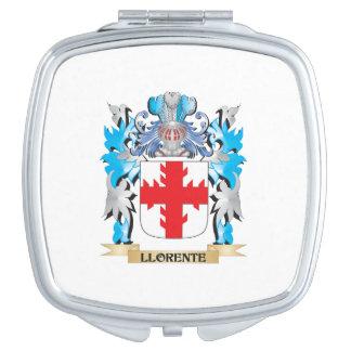 Escudo de armas de Llorente - escudo de la familia Espejo Compacto