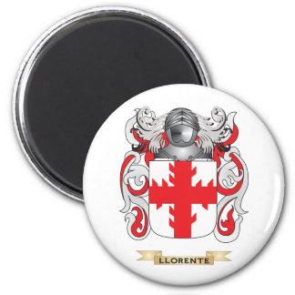 Escudo de armas de Llorente (escudo de la familia) Imán Redondo 5 Cm