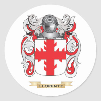 Escudo de armas de Llorente (escudo de la familia) Pegatina Redonda