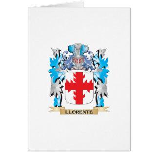 Escudo de armas de Llorente - escudo de la familia Tarjeta De Felicitación