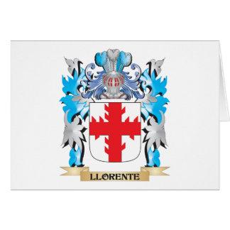 Escudo de armas de Llorente - escudo de la familia Tarjeta Pequeña