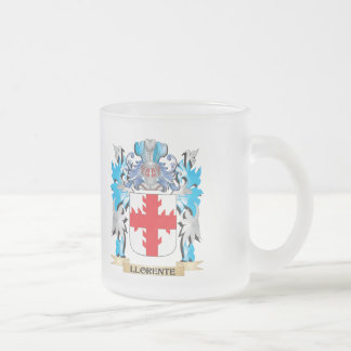 Escudo de armas de Llorente - escudo de la familia Taza Cristal Mate