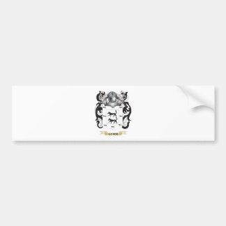 Escudo de armas de Lobos (escudo de la familia) Etiqueta De Parachoque