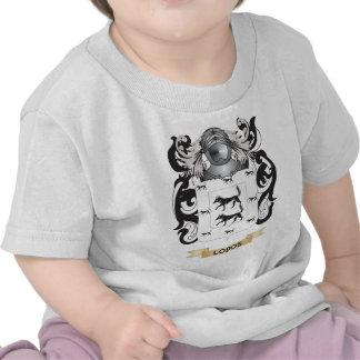 Escudo de armas de Lobos (escudo de la familia) Camisetas
