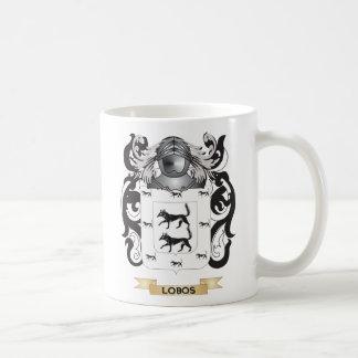 Escudo de armas de Lobos (escudo de la familia) Tazas