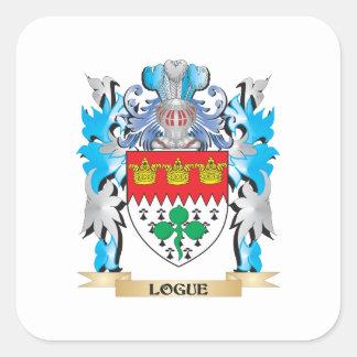 Escudo de armas de Logue - escudo de la familia Colcomania Cuadrada