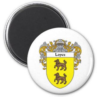 Escudo de armas de López cubierto Iman De Nevera