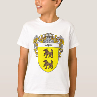 Escudo de armas de López (cubierto) Playera
