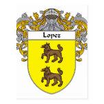 Escudo de armas de López (cubierto) Postal