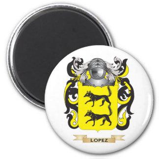 Escudo de armas de López (escudo de la familia) Imán