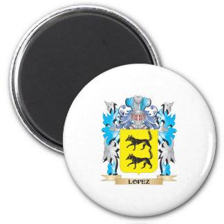Escudo de armas de López - escudo de la familia Imanes De Nevera