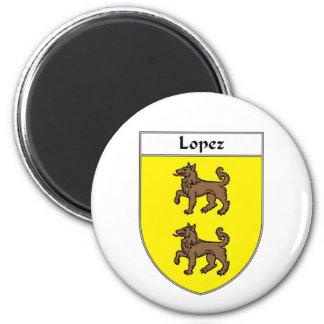 Escudo de armas de López escudo de la familia Imanes De Nevera