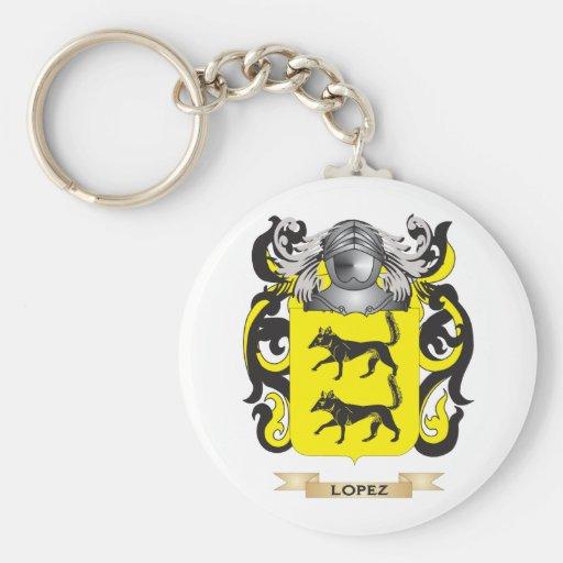 Escudo de armas de López (escudo de la familia) Llaveros Personalizados