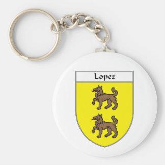 Escudo de armas de López/escudo de la familia Llavero Redondo Tipo Pin