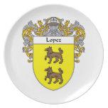 Escudo de armas de López/escudo de la familia Platos Para Fiestas