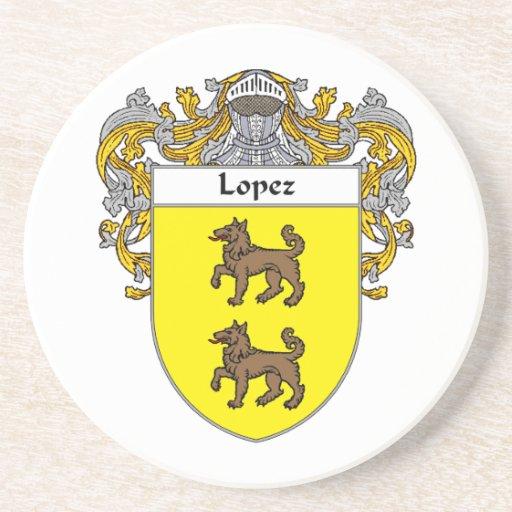 Escudo de armas de López/escudo de la familia Posavasos Diseño