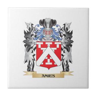Escudo de armas de los Amies - escudo de la Azulejo Cuadrado Pequeño