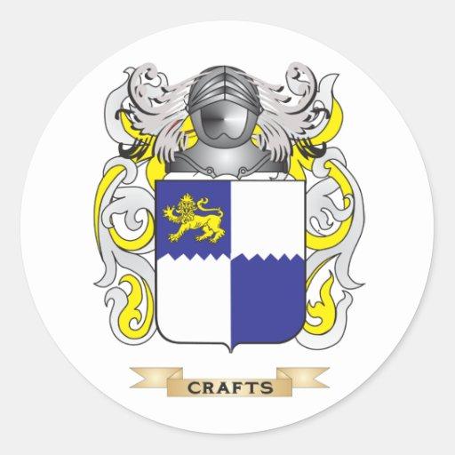 Escudo de armas de los artes pegatinas