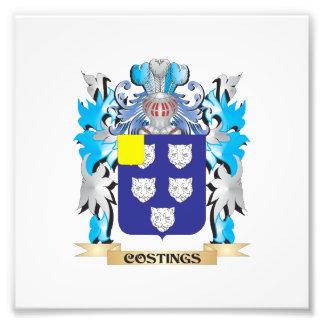 Escudo de armas de los cálculos del coste - escudo
