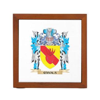 Escudo de armas de los canales - escudo de la fami
