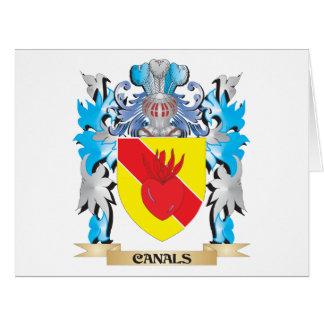 Escudo de armas de los canales - escudo de la tarjeta de felicitación grande