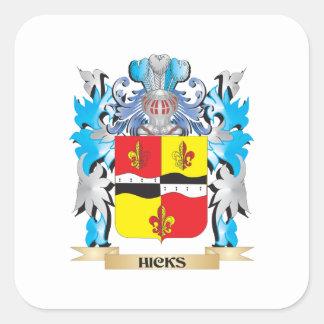 Escudo de armas de los Catetos - escudo de la Pegatina Cuadrada