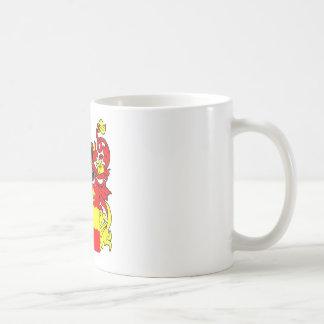 Escudo de armas de los catetos tazas de café