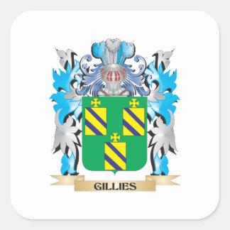 Escudo de armas de los criados - escudo de la calcomania cuadradas personalizada