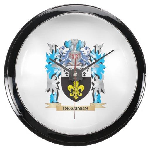 Escudo de armas de los Diggings - escudo de la fam Reloj Aquavista