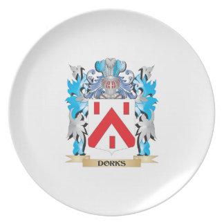 Escudo de armas de los Dorks - escudo de la famili Plato Para Fiesta