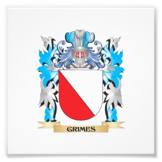 Escudo de armas de los Grimes - escudo de la Fotografias