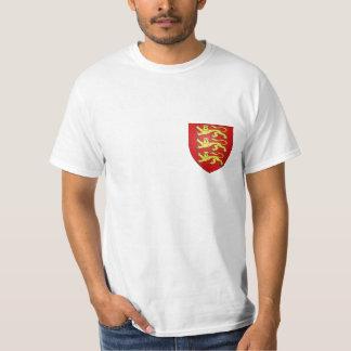 Escudo de armas de los leones de Inglaterra 3 Playera
