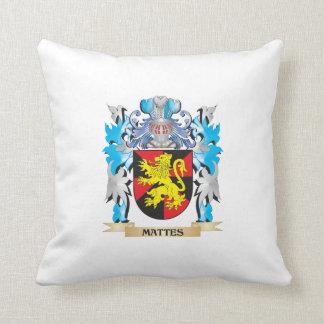 Escudo de armas de los mates - escudo de la cojin