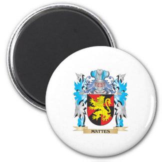 Escudo de armas de los mates - escudo de la iman de frigorífico