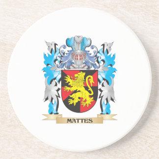 Escudo de armas de los mates - escudo de la posavasos para bebidas