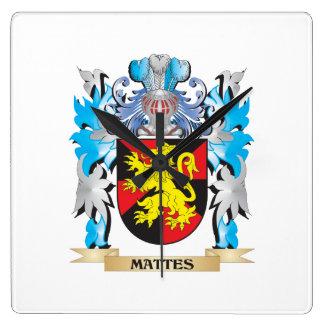 Escudo de armas de los mates - escudo de la relojes